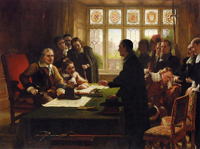 640px-Charles_West_Cope_-_Oliver_Cromwell_and_His_Secretary_John_Milton,_Receiving_a_Deputation_Seeking_Aid_for_the_Swiss_Protestants