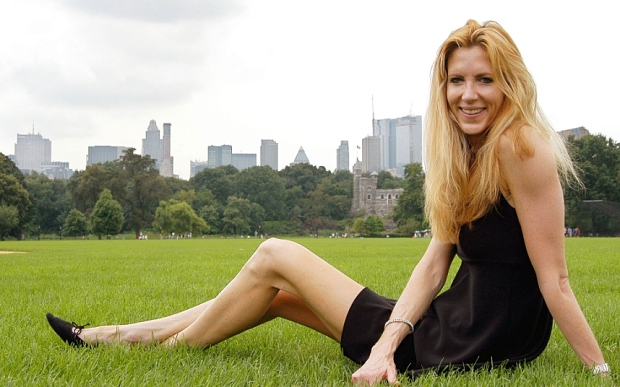 COULTER...**FILE**Political commentator Ann Coulter poses in New York's Central Park, Aug. 11, 2003. In the 48 hours after Ann Coulter bashed the 9/11 widows last week, searches for her name on Yahoo rocketed by 2300 percent. Her book shot to No. 1 on Amazon.com.  (AP Photo/Jim Cooper)