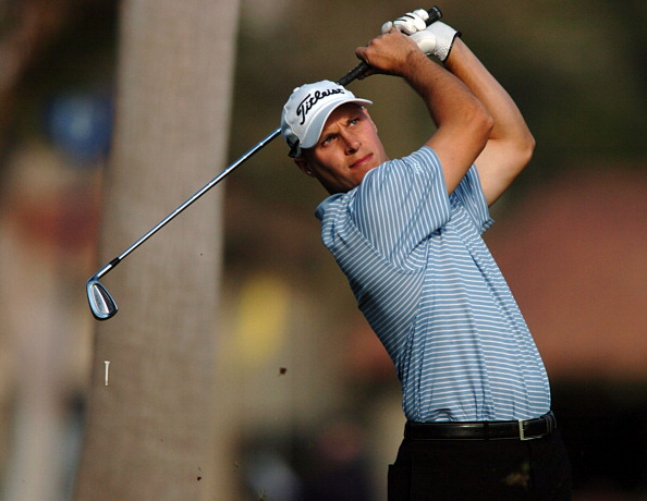 Ben Crane competes during the third round at the PGA Tour - 45th Bob Hope Chrysler Classic Pro Am at La Quinta Country Club January 23, 2004. (Photo by Steve Grayson/WireImage)
